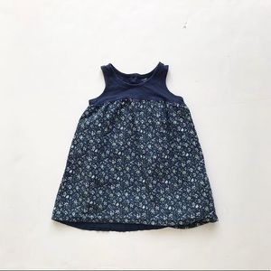 Babygap blue floral print dress EUC 18-24 months